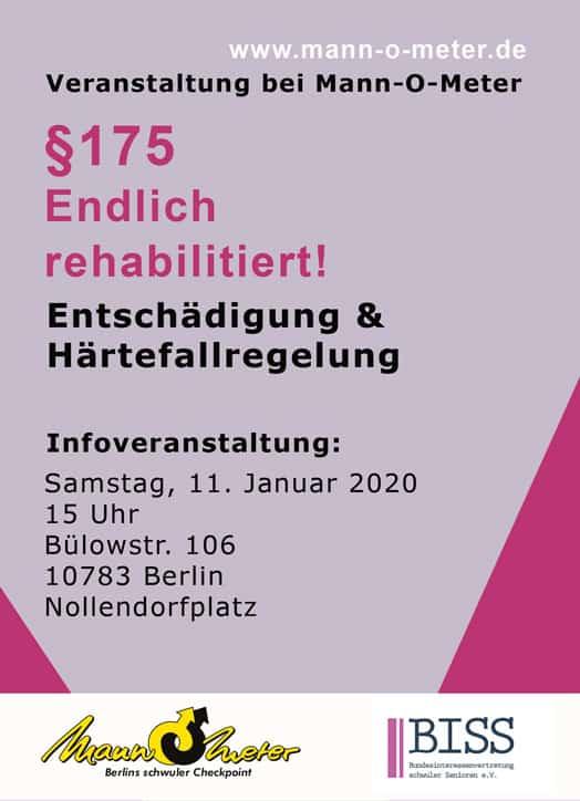 Flyer175 Vorderseite 2020 WEB - § 175 – Jetzt mehr Entschädigungsmöglichkeiten!