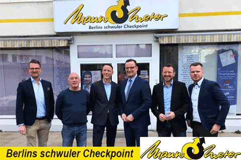 Jens Spahn01 - Bundesgesundheitsminister zu Gast im Mann-O-Meter