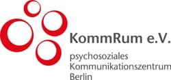 Logo kommrum - KommRum e.V.  Psychosoziale Kontakt- und Beratungsstellen in Friedenau und Friedrichshain