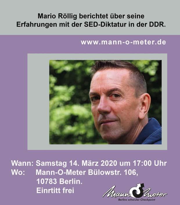 Mario Röllig Web - Vortrag im Mann-O-Meter