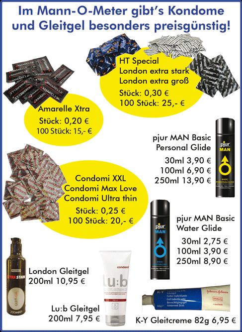 Preisliste3 - Kondome + Gleitmittel